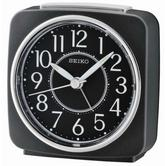 Seiko QHE140K Beep Alarm Clock|Snooze|Analog|Lumibrite|Sweep Second Hand|Black|