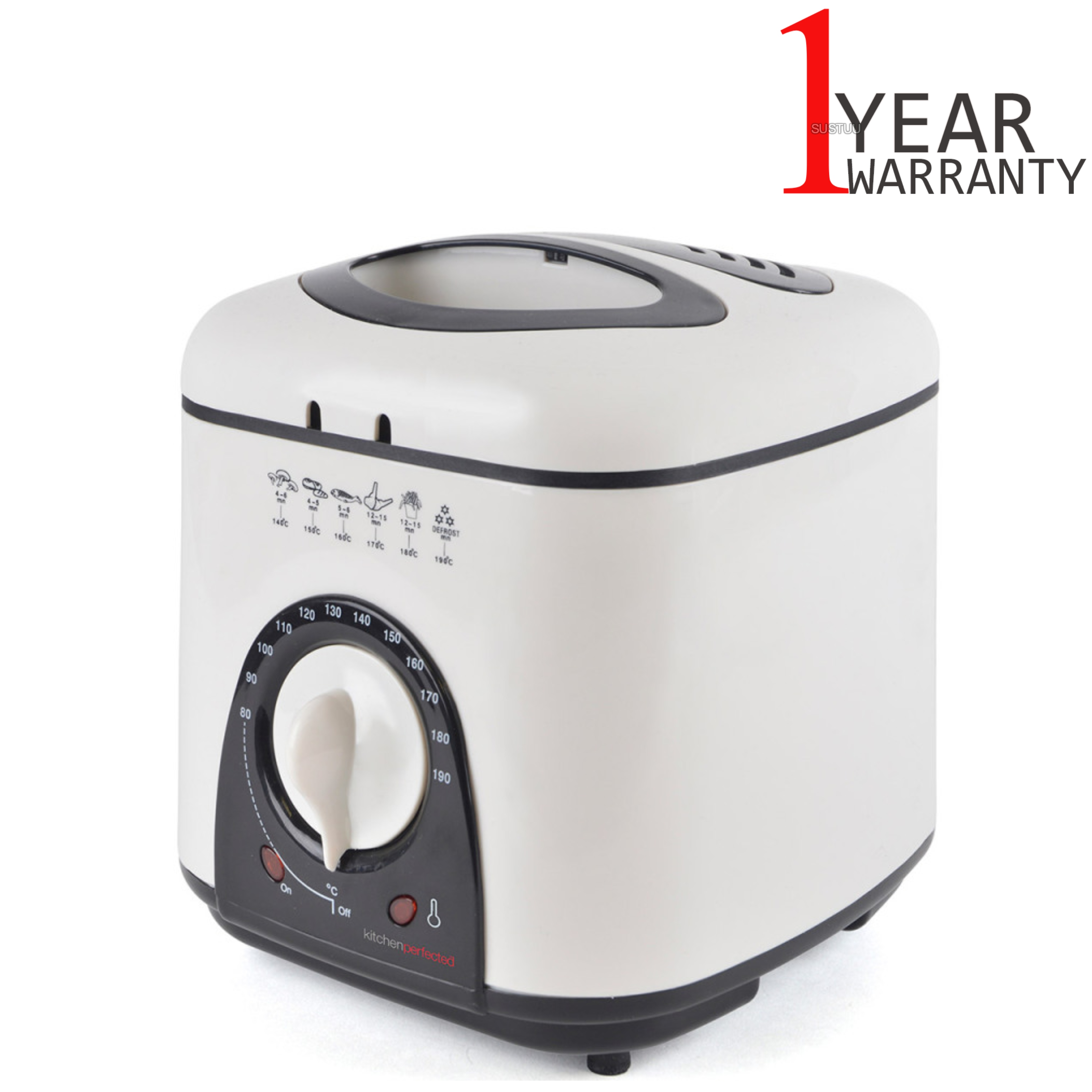 Lloytron E6010WI Kitchen Perfected Compact Deep Fryer 1L | Variable Thermostat | NEW