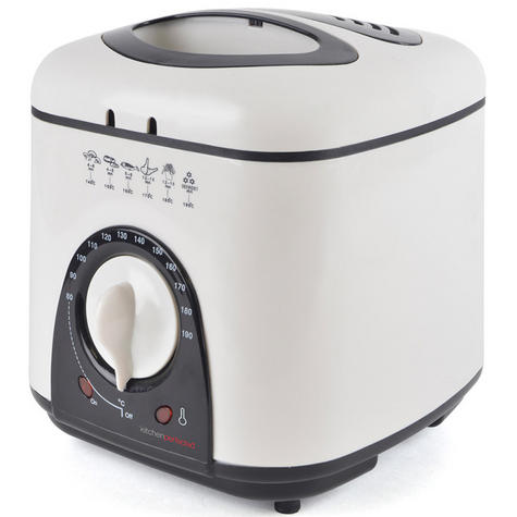 Lloytron E6010WI Kitchen Perfected Compact Deep Fryer 1L | Variable Thermostat | NEW Thumbnail 2
