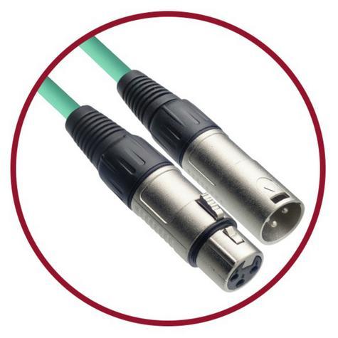 Stagg High Quality Microphone Cable XLR-XLR Plug 6m - Green Thumbnail 3