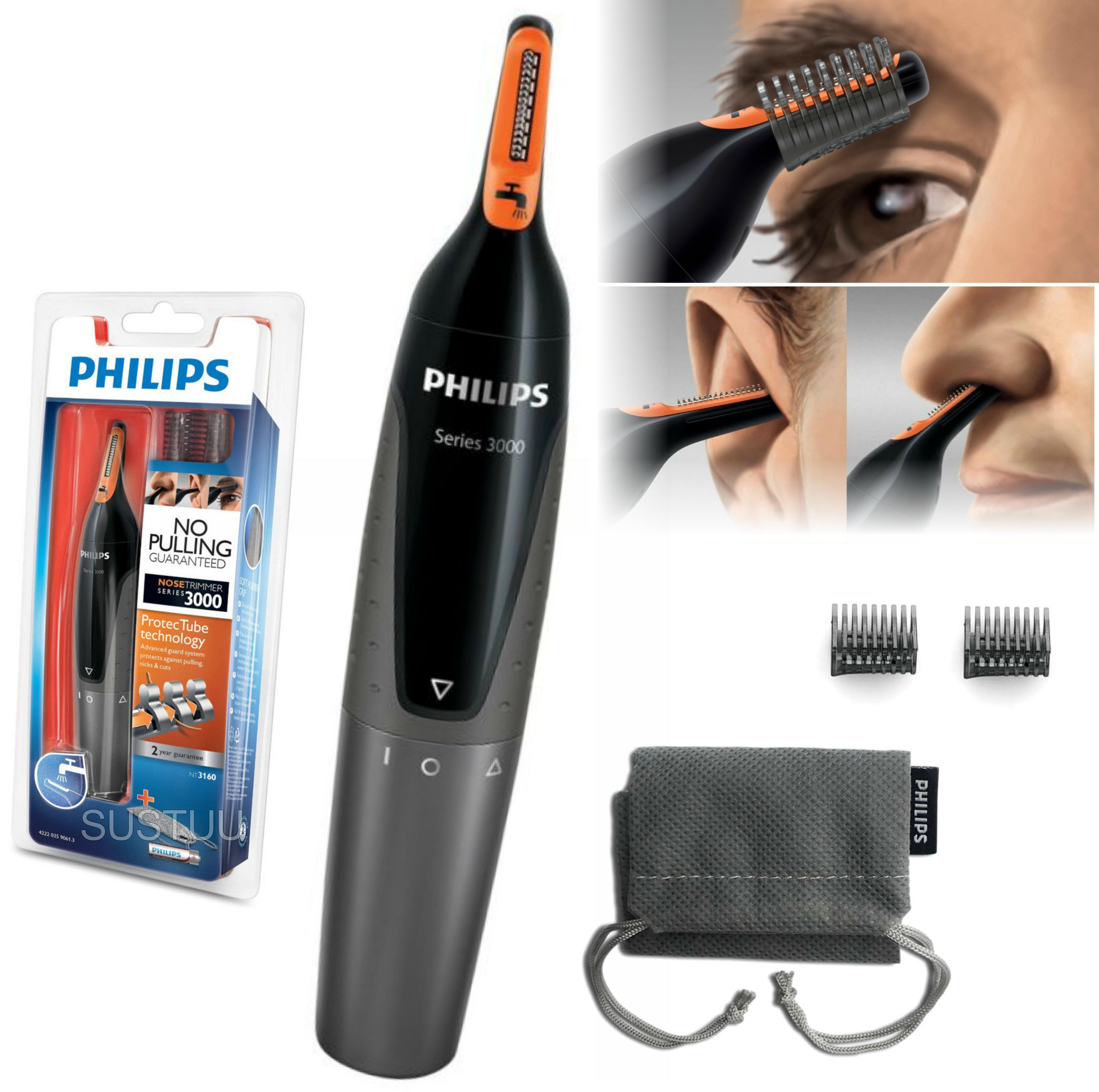 Philips 3000 Series Mens Nose/ Ear/ Eyebrow Hair Foil Trimmer?GroomingKit?NT3160