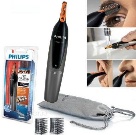 Philips 3000 Series Mens Nose/ Ear/ Eyebrow Hair Foil Trimmer?GroomingKit?NT3160 Thumbnail 2