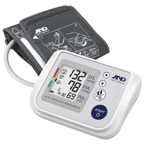A&D Medical UA-767F Family Auto Arm Blood Pressure Monitor | Multi-User | Adult Cuff Thumbnail 2