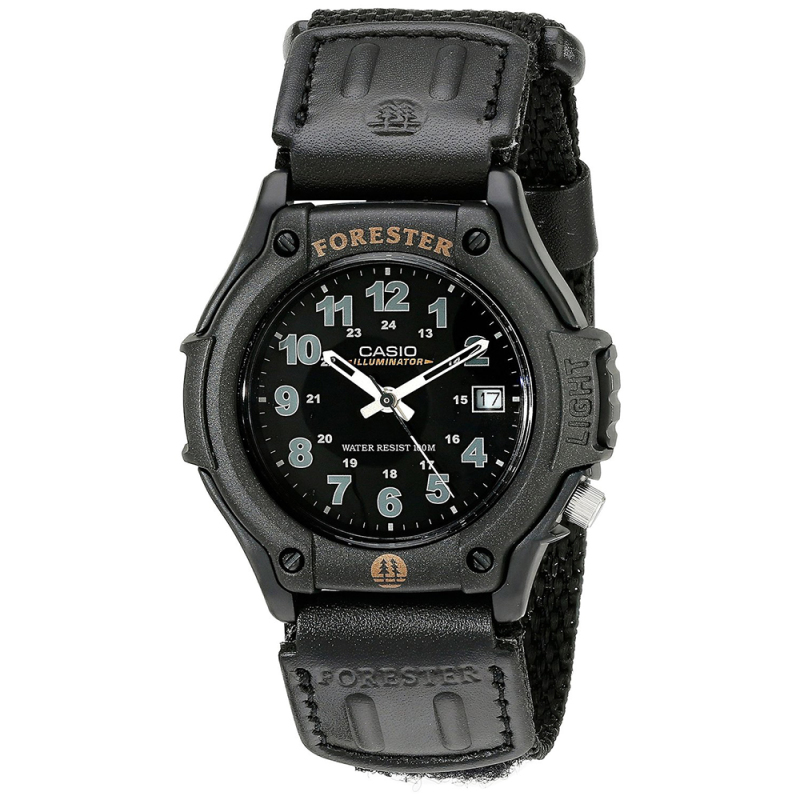 Casio FT500WC/1BVER Forester Watch|Analogue Display|100M WR|LEDLight|Resin|Black