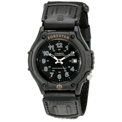 Casio FT500WC/1BVER Forester Watch|Analogue Display|100M WR|LEDLight|Resin|Black Thumbnail 1