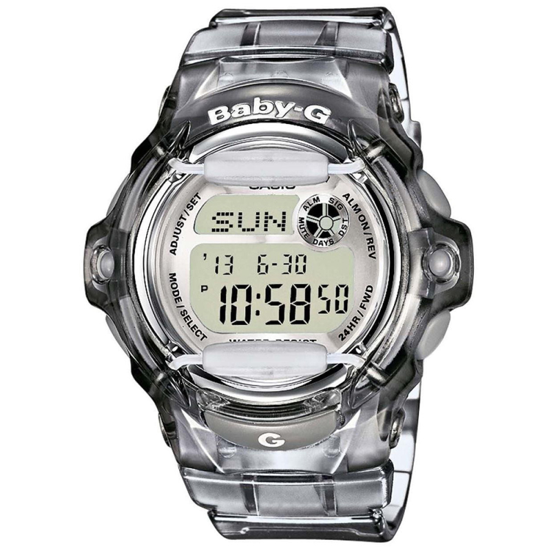 Casio Ladie's  BG169R-8ER Baby-G Watch / Alarm / Water Resist / Date Function / Grey
