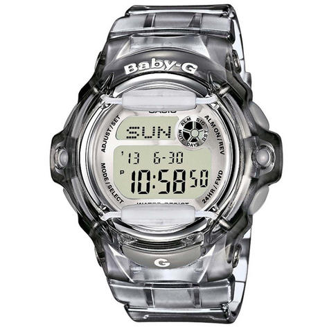 Casio Ladie's  BG169R-8ER Baby-G Watch / Alarm / Water Resist / Date Function / Grey Thumbnail 1