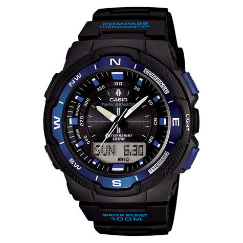 Casio SGW500H-2BVER Mens Sports Watch|Analogue Digital Display|Thermometer|100M Thumbnail 1