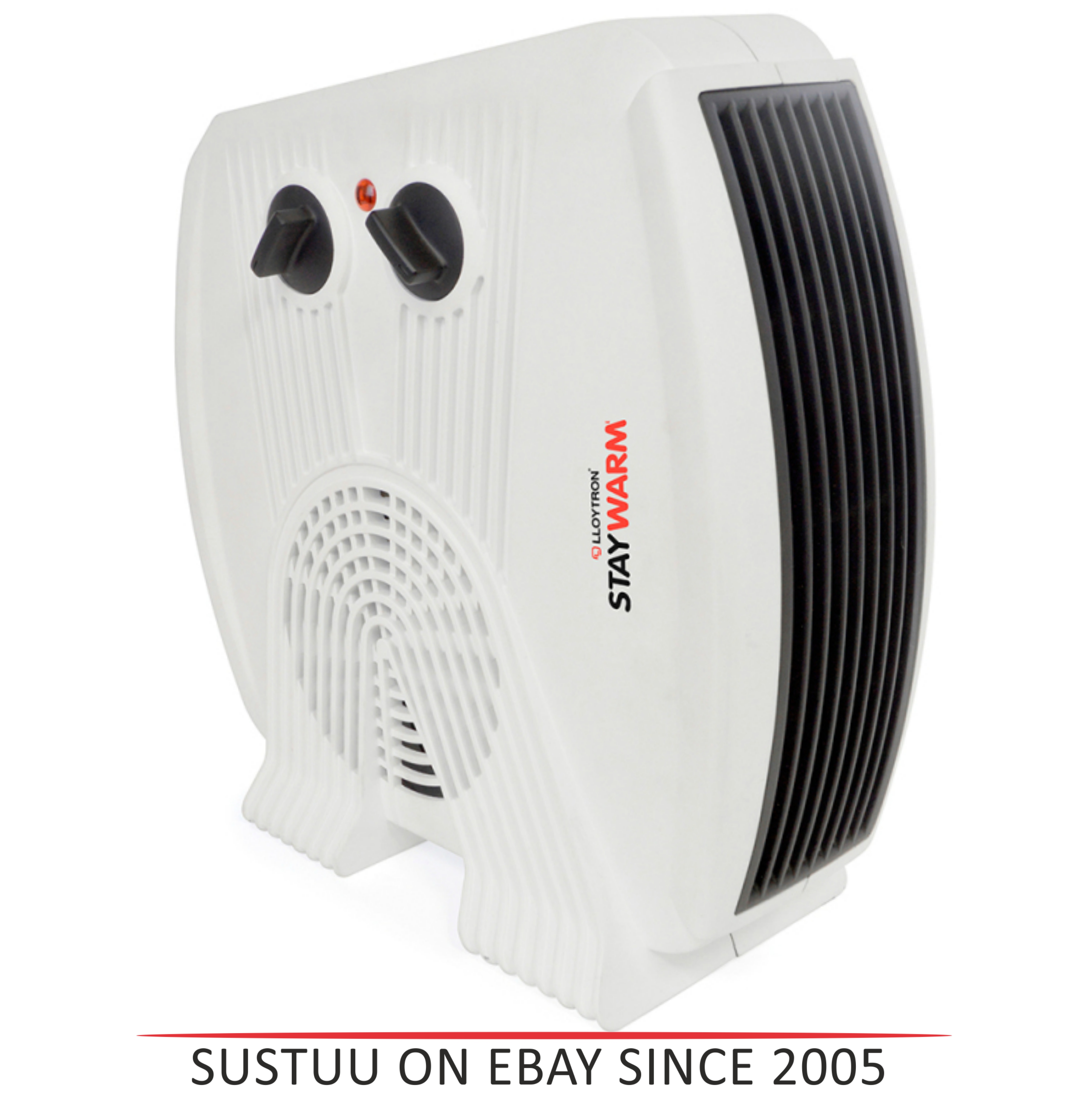 Lloytron F2035WH Staywarm 3kw Upright & Flatbed Heater | Automatic Cut-off | White |