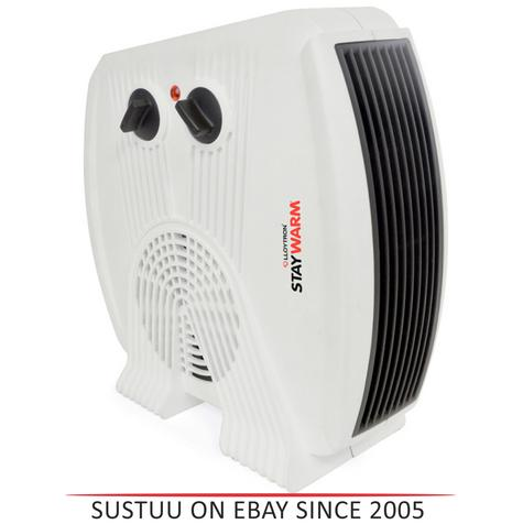 Lloytron F2035WH Staywarm 3kw Upright & Flatbed Heater | Automatic Cut-off | White | Thumbnail 1