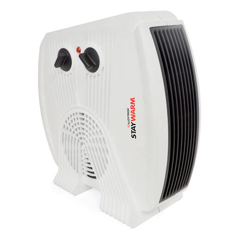 Lloytron F2035WH Staywarm 3kw Upright & Flatbed Heater | Automatic Cut-off | White | Thumbnail 2