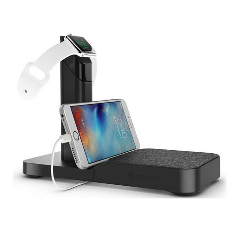 Griffin GC41633 Watch Stand Charging Station for Apple Watch / iPhone / iPad  Thumbnail 3
