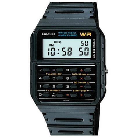 Casio CA53W-1ER Water Resistant Retro 8 Digit Calculator Watch|Resin Strap|Alarm Thumbnail 1