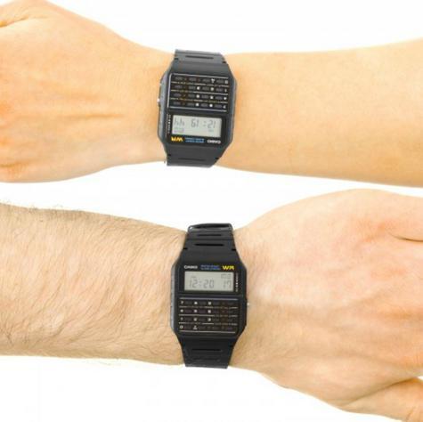 Casio CA53W-1ER Water Resistant Retro 8 Digit Calculator Watch|Resin Strap|Alarm Thumbnail 2