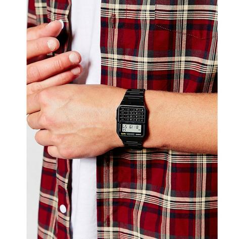 Casio CA53W-1ER Water Resistant Retro 8 Digit Calculator Watch|Resin Strap|Alarm Thumbnail 3
