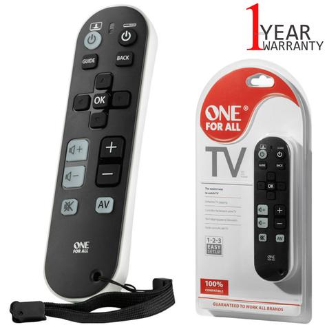 One For All Universal TV Zapper Device Remote Control | 3 Device Control | URC6810 Thumbnail 1