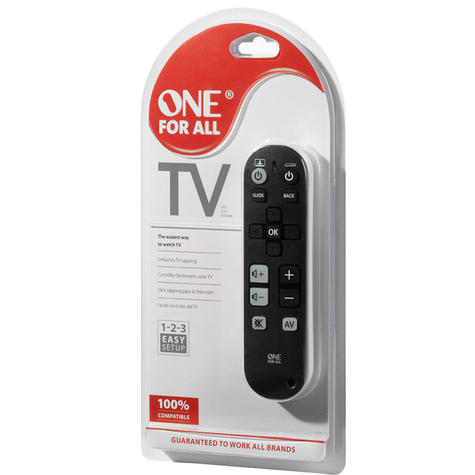 One For All Universal TV Zapper Device Remote Control | 3 Device Control | URC6810 Thumbnail 4