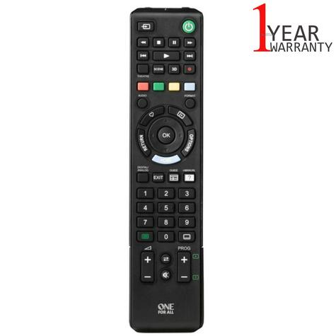 One For All Sony TV Replacement Remote Control | No Setup Required | Black | URC1912 Thumbnail 1