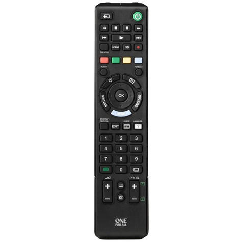 One For All Sony TV Replacement Remote Control | No Setup Required | Black | URC1912 Thumbnail 2