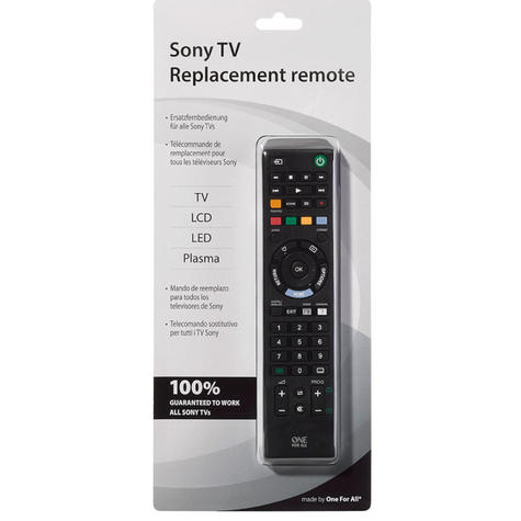 One For All Sony TV Replacement Remote Control | No Setup Required | Black | URC1912 Thumbnail 3