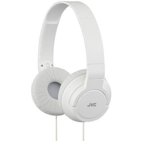 JVC Powerful Bass On-Ear Stereo Lightweight Overhead Headphones - White Thumbnail 1