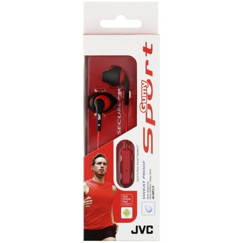 JVC Gumy Sport Earphones with Nozzle Fit and Remote Mic - Black Thumbnail 2