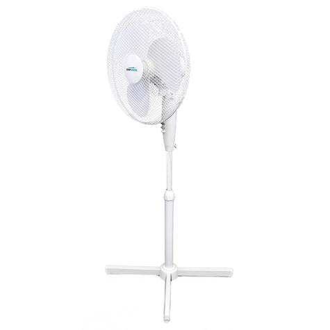 Lloytron 16 Inch Pedestal Fan | 3 Speed Settings | Home-Office Use | F1221WH | White | NEW Thumbnail 2