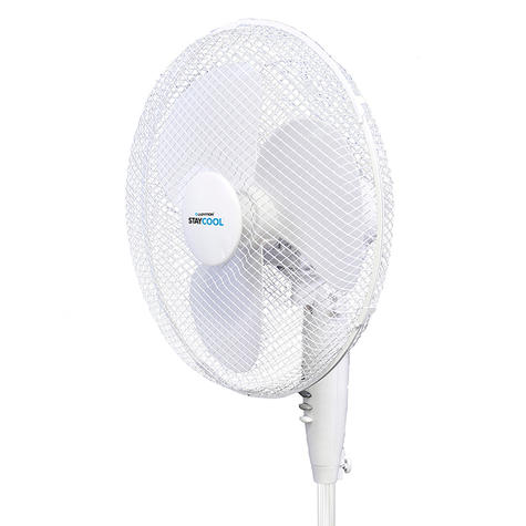 Lloytron 16 Inch Pedestal Fan | 3 Speed Settings | Home-Office Use | F1221WH | White | NEW Thumbnail 3