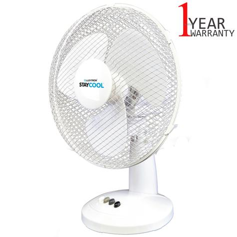 Lloytron 16 Inch Desk Fan | 3 Speed Settings | 90Deg Oscillation | F1021WH | White | NEW Thumbnail 1
