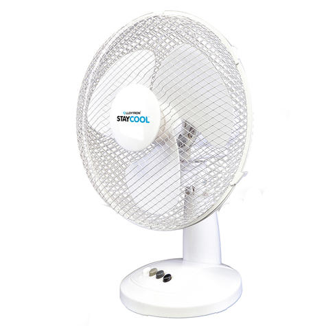 Lloytron 16 Inch Desk Fan | 3 Speed Settings | 90Deg Oscillation | F1021WH | White | NEW Thumbnail 2