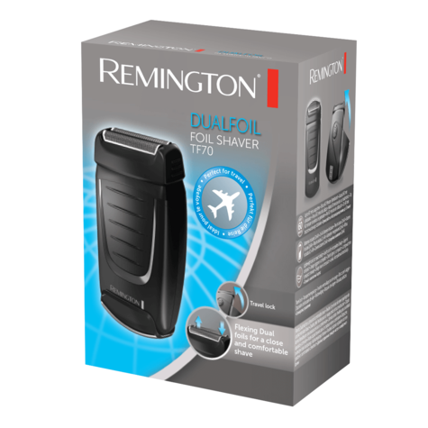 Remington Dual Foil Travel Electric Shaver | Men's Hair Removal | On/off Switch | TF70 Thumbnail 4