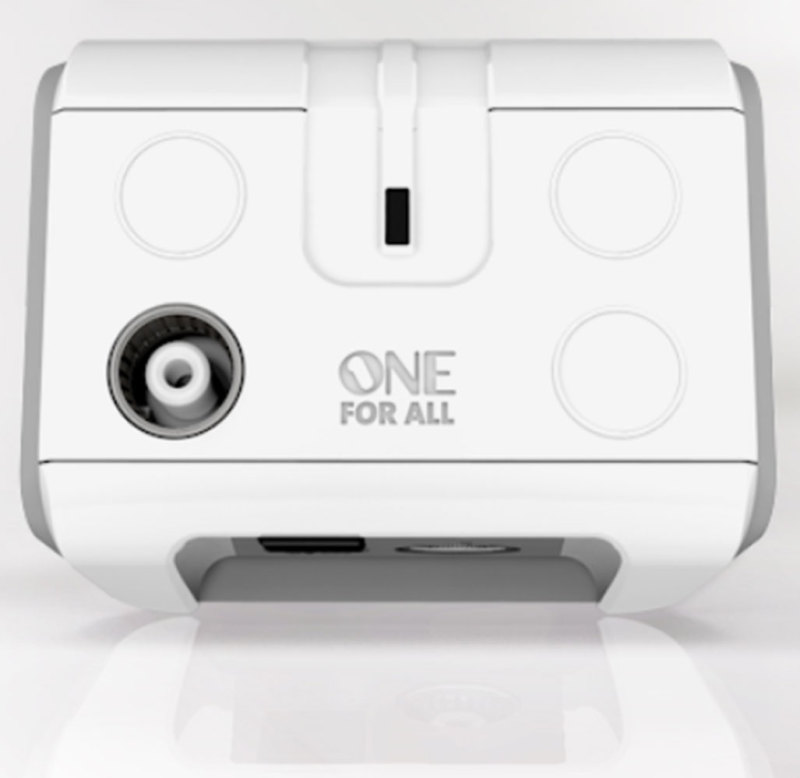 One for All | 1 Way Digital Freeview TV/Radio Signal Booster Amplifier | SV9601 | White