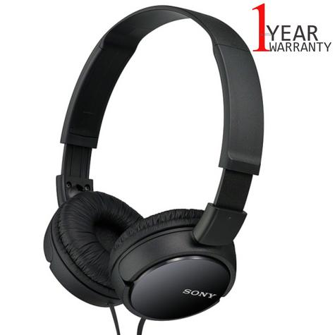 Sony MDRZX110 Over-Ear Sound Monitoring Headphone / Black Headband / 3.5 mm Jack / New Thumbnail 1