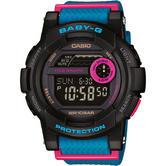 Casio BGD180/2ER Baby-G New Multi-Function Tide Graph Digital Watch - Black/Blue