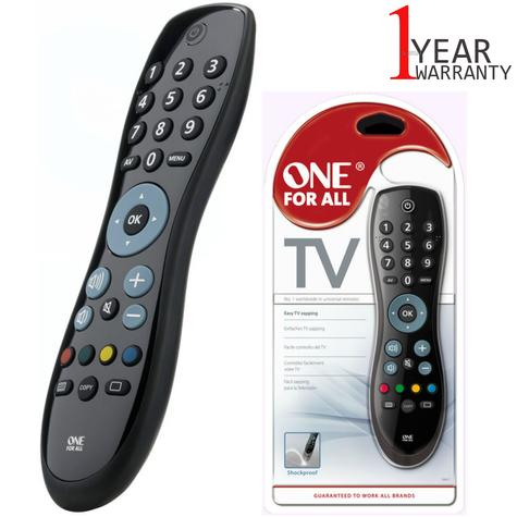 One For All Universal Remote Control For TV | 15 m Infra-Red Range | Black | URC6410 Thumbnail 1