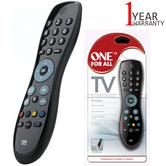One For All Universal Remote Control For TV | 15 m Infra-Red Range | Black | URC6410