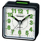Casio TQ-140-1BEF Beep Travel Analog Alarm Clock|Bedside|Luminous Coating|Black|