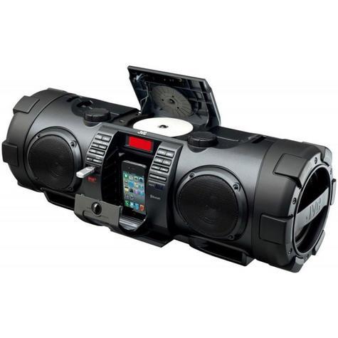 JVC RVNB75B Portable CD System Boomblaster With Lightning Dock & Bluetooth BLACK Thumbnail 2