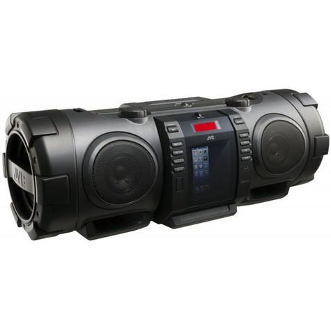 JVC RVNB75B Portable CD System Boomblaster With Lightning Dock & Bluetooth BLACK Thumbnail 3
