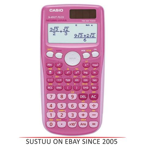 Casio Scientific Calculator with 260 Functions - Pink  FX85GTPLUS/PK Thumbnail 1