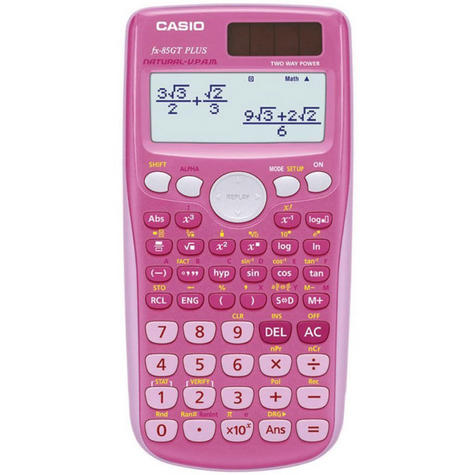 Casio Scientific Calculator with 260 Functions - Pink  FX85GTPLUS/PK Thumbnail 2
