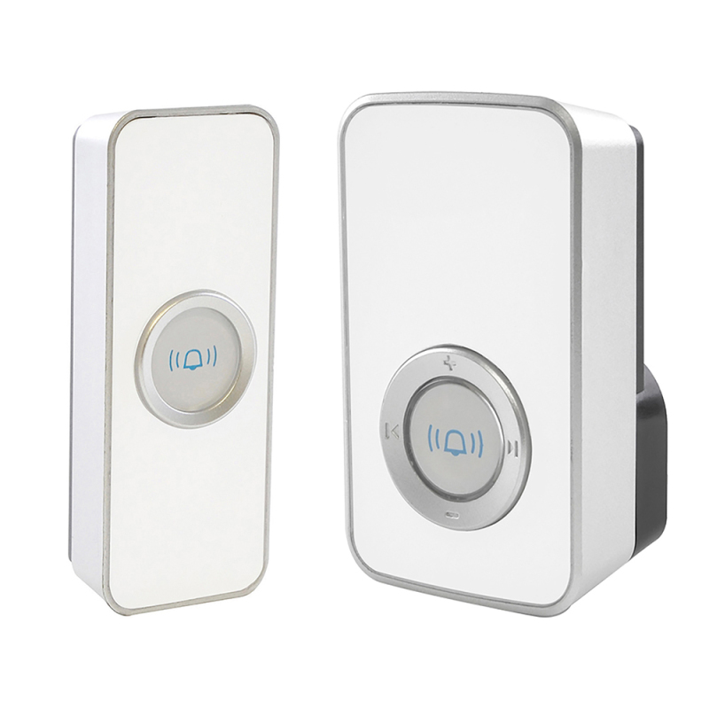 Lloytron 32 Melody Mains Plug-in Wireless Door Chime with MiPs - White  B7505WH