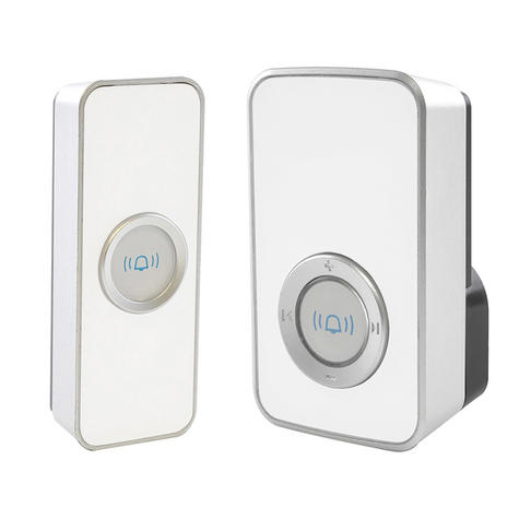 Lloytron 32 Melody Mains Plug-in Wireless Door Chime with MiPs - White  B7505WH Thumbnail 1