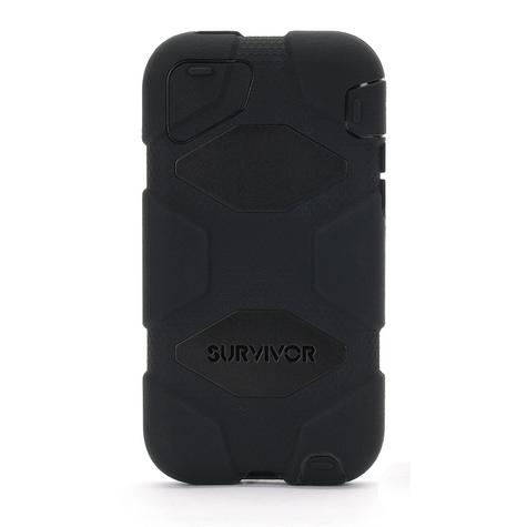 Griffin Iphone 5C Survivor Military Duty Shockproof Case Cover-Black GB38141-2 Thumbnail 2