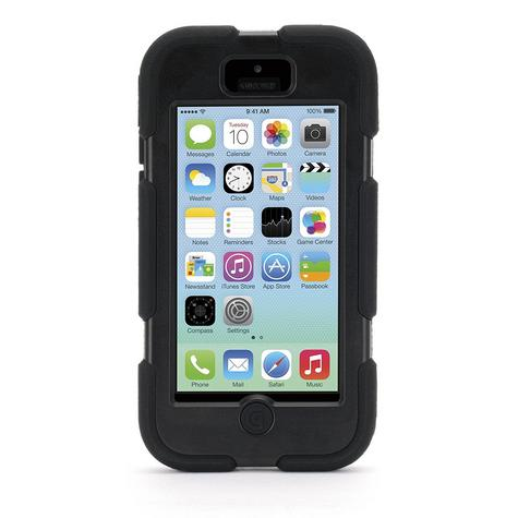 Griffin Iphone 5C Survivor Military Duty Shockproof Case Cover-Black GB38141-2 Thumbnail 3
