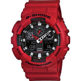Casio GA100B/4A G-SHOCK Men's Quartz Watch|Shock Resist|200m WR|Auto LED|Red|New
