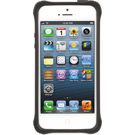 Griffin GB36413-2 Survivor Tough Crystal Clear Bumper Case|For iPhone 5|Black| Thumbnail 2