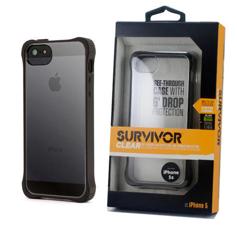 Griffin GB36413-2 Survivor Tough Crystal Clear Bumper Case|For iPhone 5|Black| Thumbnail 3