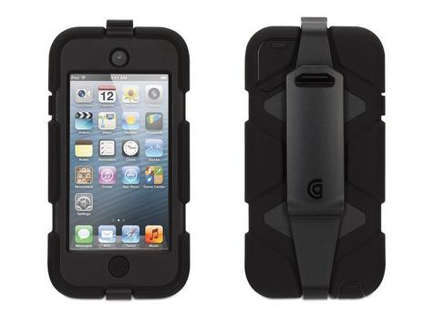 Griffin GB35694-3 Survivor Military-Duty Case-Belt Clip for iPod Touch 5G-Black Thumbnail 2