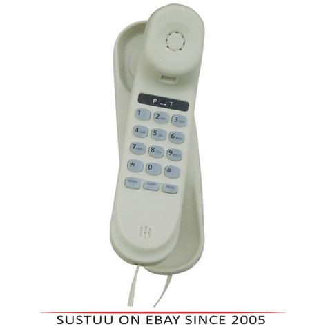 Tel UK 18006W Slim Corded Telephone Vienna|Mountable|Flash-Pause Function|White  Thumbnail 1